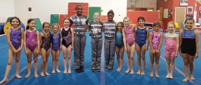 Simone Biles and her Teammates with IGI Gymnasts!!!