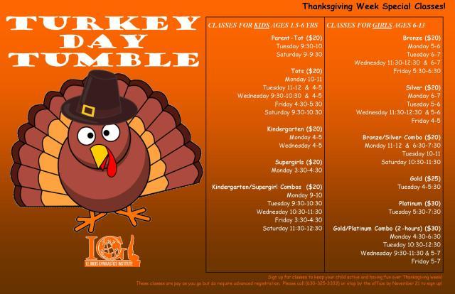 IGI Thanksgiving Classes